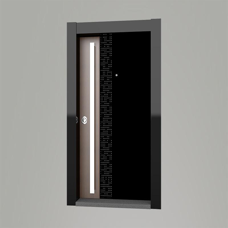 Boyut fabrikinin VAV işıqlı qara şüşəli Light seriyası giriş qapısı