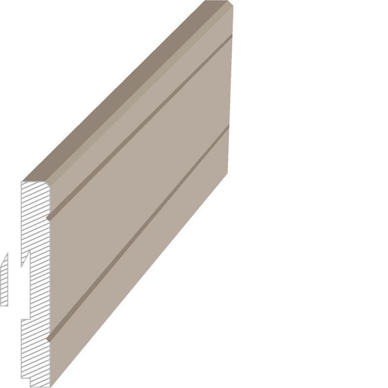 MasDoor fabrikinin S.412 16x120 mm süpürgəlik modeli